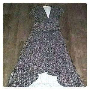 Michael Kors wrap maxi dress with cap sleeve sz4